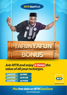 Migrate to MTN StartPack and Enjoy 6x Bonus On Every Recharge