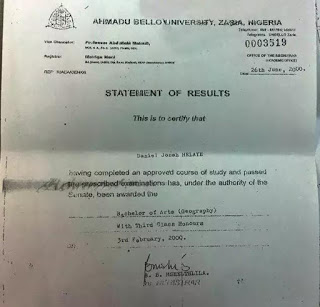 Dino Melaye�s Bachelor of Arts certificate fake - says ABU
