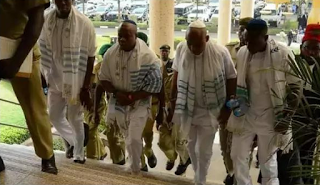 Biafra: Court rules on Kanu, others bail request April 25, Igob elders crowded court (photos)