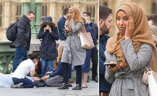 Muslim woman who was lambasted online for walking past Westminster bridge horror finally speaks