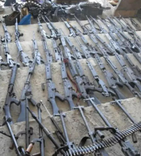 Tellforceblog: Weapons found by ICPC  in Sanusi Mohammed's house are so terrifying.