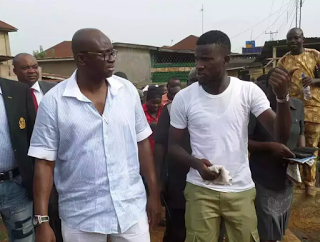 NYSC member landed himself automatic employment in Ekiti for taking picture with Fayose