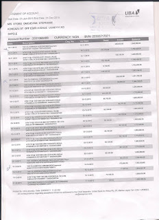 Photos: Sahara Reporters releases bank statements showing transactions between Apostle Suleman and Stephanie Otobo