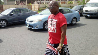 """Video/Photo: Charly Boy in a """"Solo March Protest"""" to Aso Rock"""