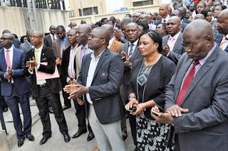Photo: EFCC Boss pictured addressing his subordinates