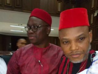 PHOTOS: Fayose storms court for Kanu Nnamdi's trials, finally supports Biafra independency
