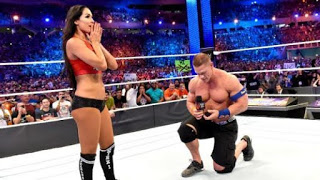 Video: WWF John Cena proposes to girlfriend in front of 70,000 fans in the Wrestling Mania ring