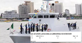 LIST: Nigerian Navy releases list of successful candidates for Direct Short Service Course (DSSC)
