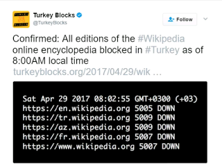 "Access to Wikipedia blocked by Turkish Govt. over ""smear campaign"""