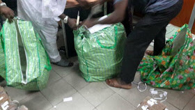 Photos: About N500 million discovered in a Plaza Shop by EFCC