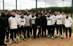 Photos: Anthony Joshua trains with Manchester United Players