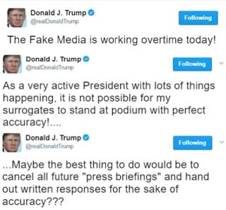 Donald Trump may cancel White House press briefings, calls them FAKE MEDIA