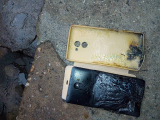 Photos: Alleged Explosion of Infinix Hot 4 burnt Lady's Leg