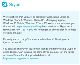 Skype apps to stop working on Windows Phone, Windows RT and TVs after July 1st - Microsoft