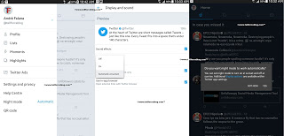 Twitter 7.2 for Android comes with automatic night mode feature