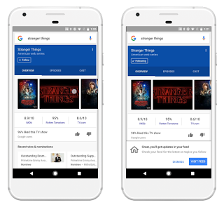 Google releases the feed, a personalized stream of news on Android and iOS
