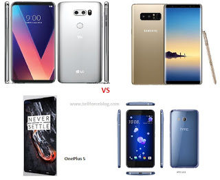 LG V30 vs Galaxy Note 8 vs OnePlus 5 vs HTC U11: Clash Of The Android Titans