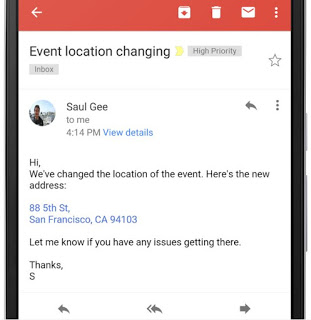 Gmail Update: Addresses and phone numbers are now converted to interactive hyperlinks