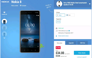 UK customers who pre-orders Nokia 8 gets free smartwatch