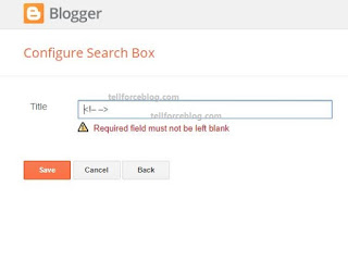 How To Remove �Required field must not be left blank� In Blogger