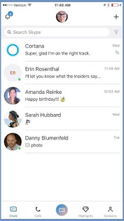Microsoft redesigns the Skype for iOS users