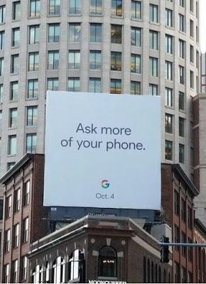 Google Billboard Suggests Launch Date For Pixel Smartphones