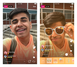 Instagram introduce face filters for live video