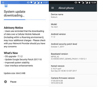 Android 7.1.2 update is now hitting on Nokia 6