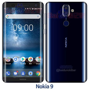 Checkout the leaked image of Nokia 9 Polished Blue color model