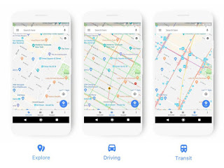 Google Maps receives a facelift Update with new Icons and Colour Scheme