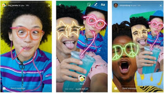 You can remix the photos your friends send you on Instagram