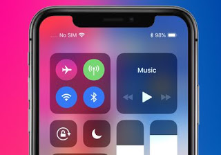 How to check battery level in percentage on the Apple iPhone X