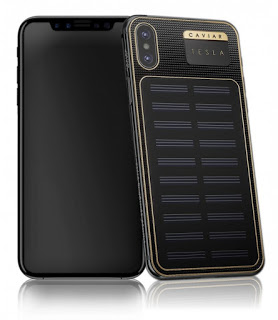 iPhone X Tesla: The re modified iPhone X with solar panel on the back