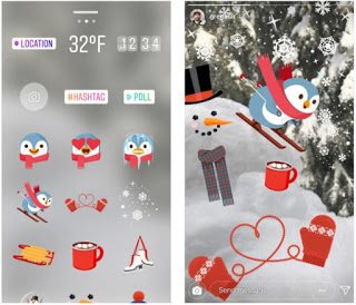 Instagram is rolling out a new yuletide update