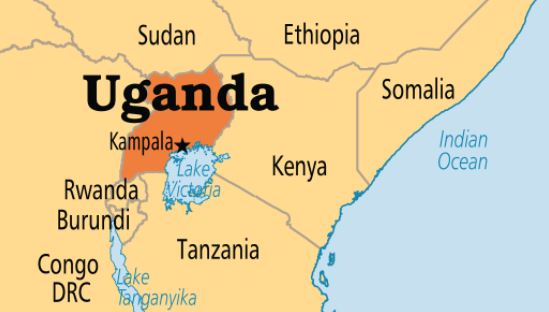 Uganda Geographical location