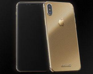 Caviar iPhone X Classic Classic Gold
