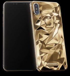 Caviar iPhone X Classic Liquid Gold