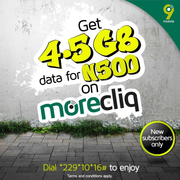 How To Get 4.5 GB For Just N500 on 9Mobile