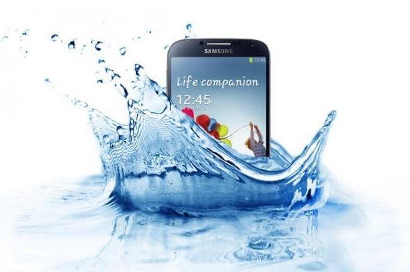 Phone Drops In water