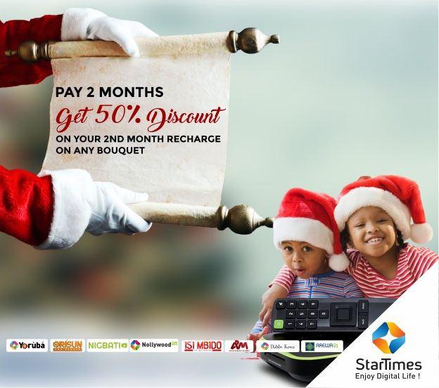 Startimes Christmas Offer