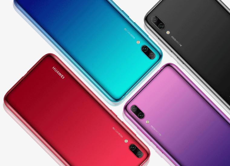 Huawei Y7 Prime (2019) in colours