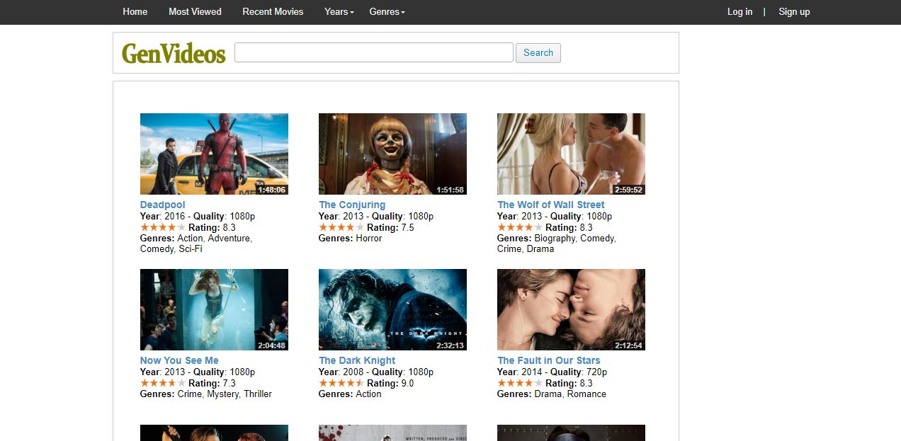It Has Different Domain Extension But The Most Popular Of Them All Is The Genvideos Org