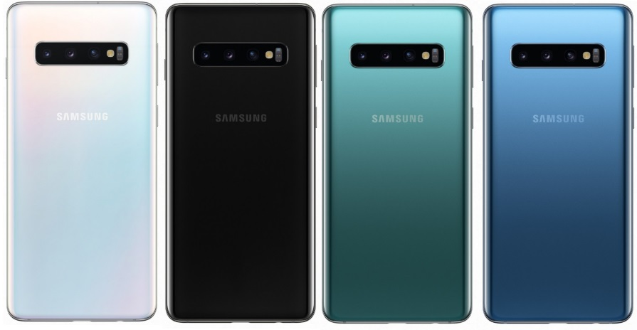Samsung Galaxy S10 in colours
