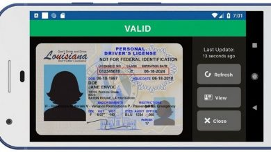 A sample image of a digital driver's license accessed through the LA Wallet app. Source: Envoc