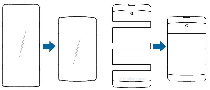 LG stretchable phone patent