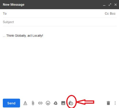 If users click on the button, it opens the Gmail confidential mode user settings dialog box where they can modify the settings