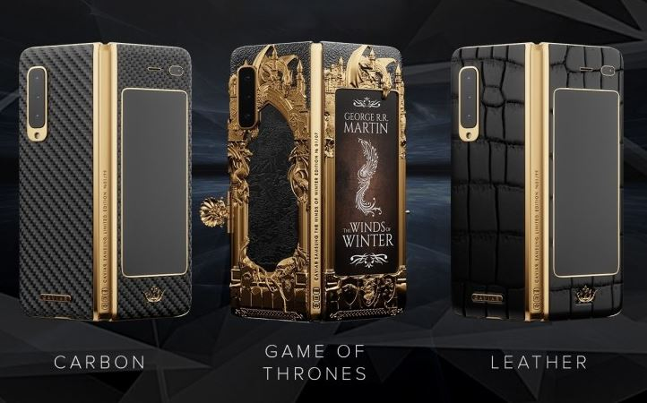 Samsung Galaxy Fold Game of Thrones Edition, Carbon and Leather