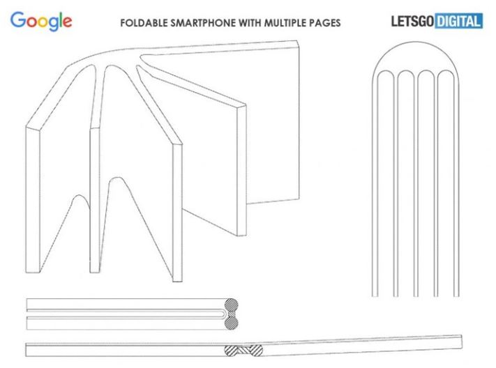 Google Foldable Phone Patents