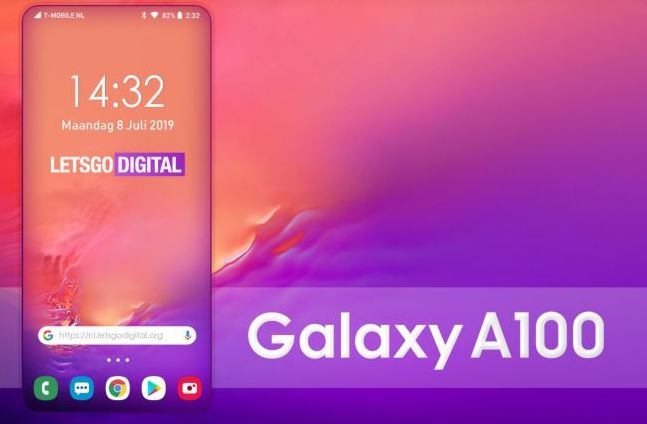 Alleged Samsung Galaxy A100 render