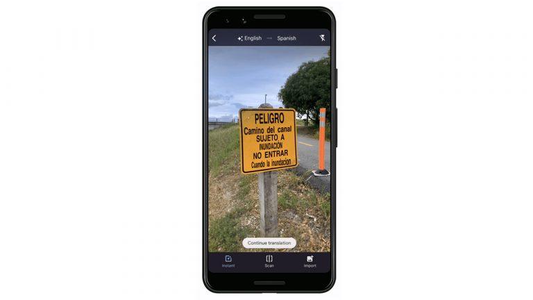 Google Translate Instant Camera